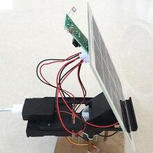 Diy 키트 5 v 태양 전지 패널 자동 추적 컨트롤러 스위트 모바일 전원 은행 충전기 전자 부품 태양 광 발전 트랙