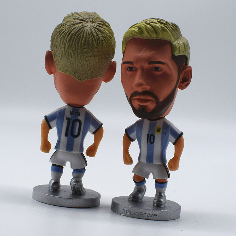 Dropwow Soccerwe Soccer Star Doll Mini Statue Pogba Ronaldo Messi ... a52e8ba60