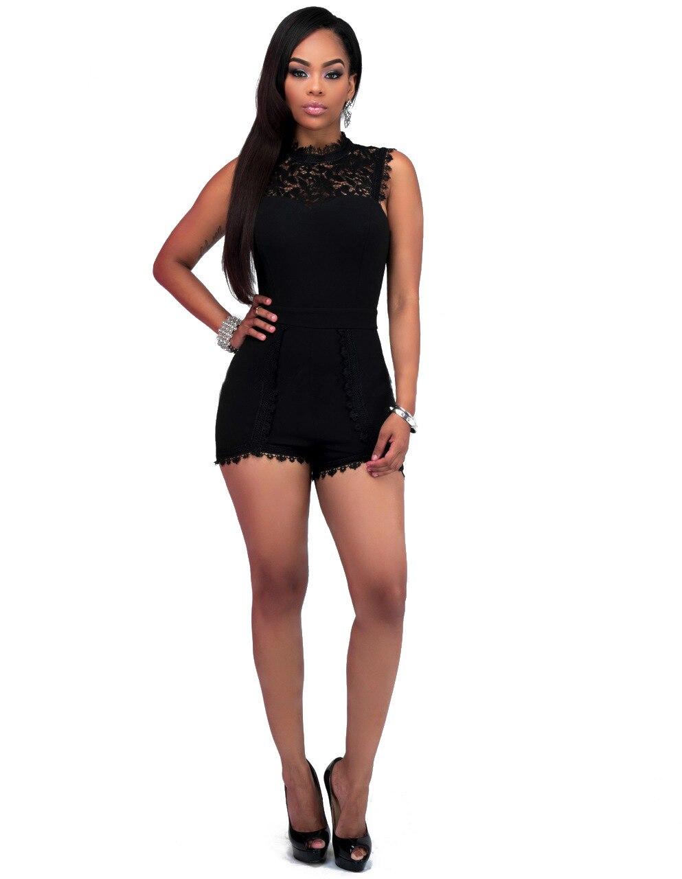 Online Get Cheap Black Jumpsuit Shorts Plus Size -Aliexpress.com ...