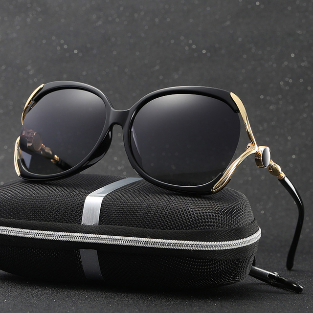 815a8e3baa6 Polarized Oversized Vintage Sunglasses Women Large Frame Sunglass Big Sun Glasses  Eyewear European Style Women Brand
