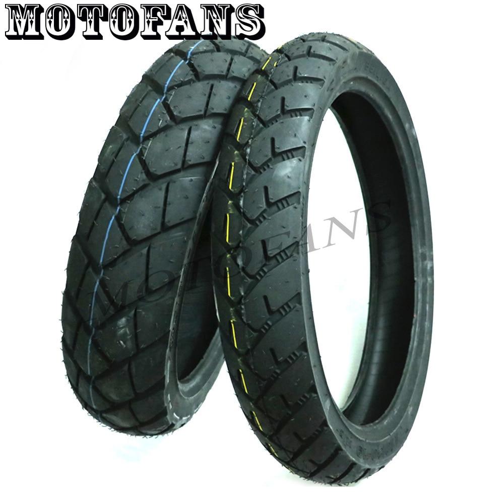 Motofans - 110/80-19 Front Tire& 140/80-17 Rear Tire Anti ...