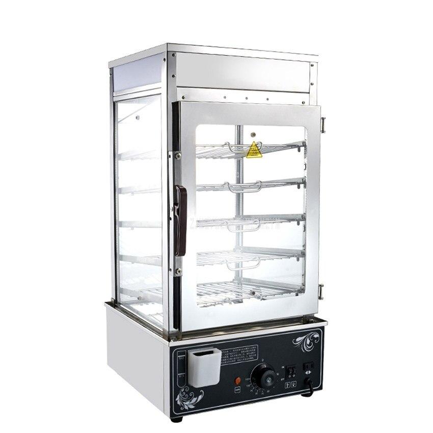 1.2KW 5 Слои электрическая Пароварка коммерческий для приготовления булочек с начинкой на пару Паровая машина Нержавеющаясталь шкаф для под
