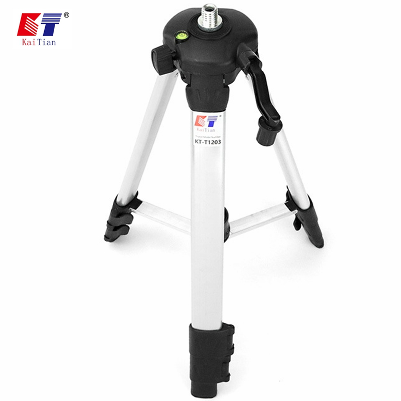 Kaitian Laser Level Tripod for Adjustable Rod Leveling Bubble 5/8 Inch with Extension Rod and Adjustable Height for Level Laser