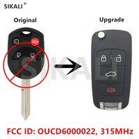 SIKALI Opgewaardeerd Afstandsbediening voor Ford Edge Escape Vijfhonderd Gratis Stijl Fusion Flex Focus FCC ID OUCD6000022 Frequentie 315 MHz