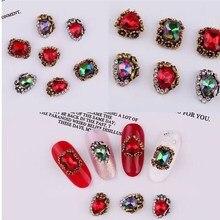 цена на 10pcs/set UV Gel Alloy Nails Art Supplies Decoration Charm Color Random Nail Charm Accessories Crystal Rhinestone&Decoration 10g