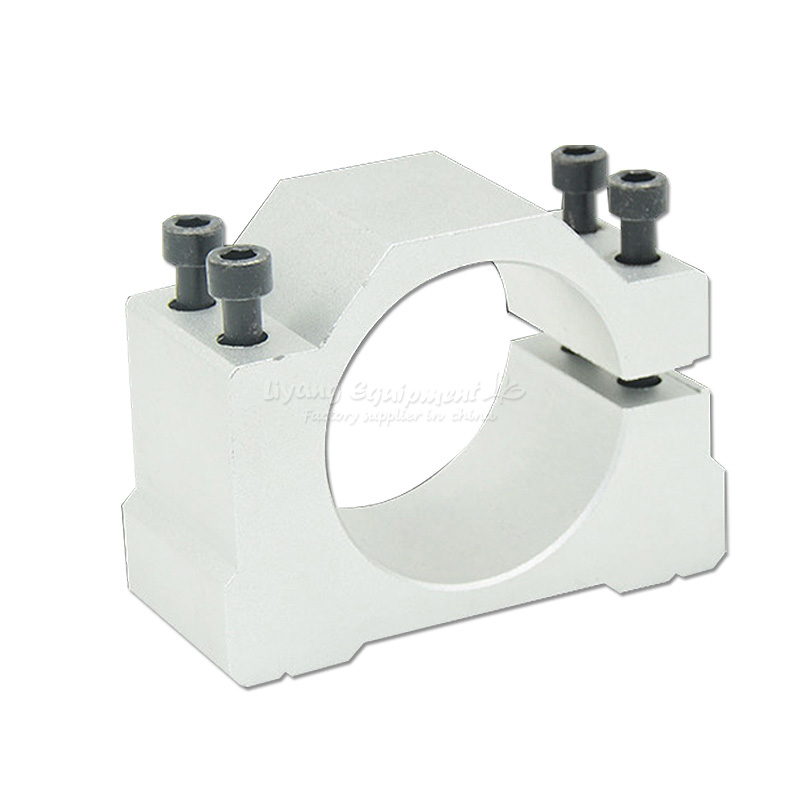 cnc machine fixture clamp spindle motor bracket seat cnc clamp motor holder aluminum 48/50/52/62/65/80/85/100/105/120/125mm rapid fixture clamps fixture clamp fastening compactor gh101a