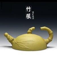 Hot Sale Tea Pot Purple Clay Tea Set 110ml Ceramic Kettle Kung Fu Teapot Bamboo Tea