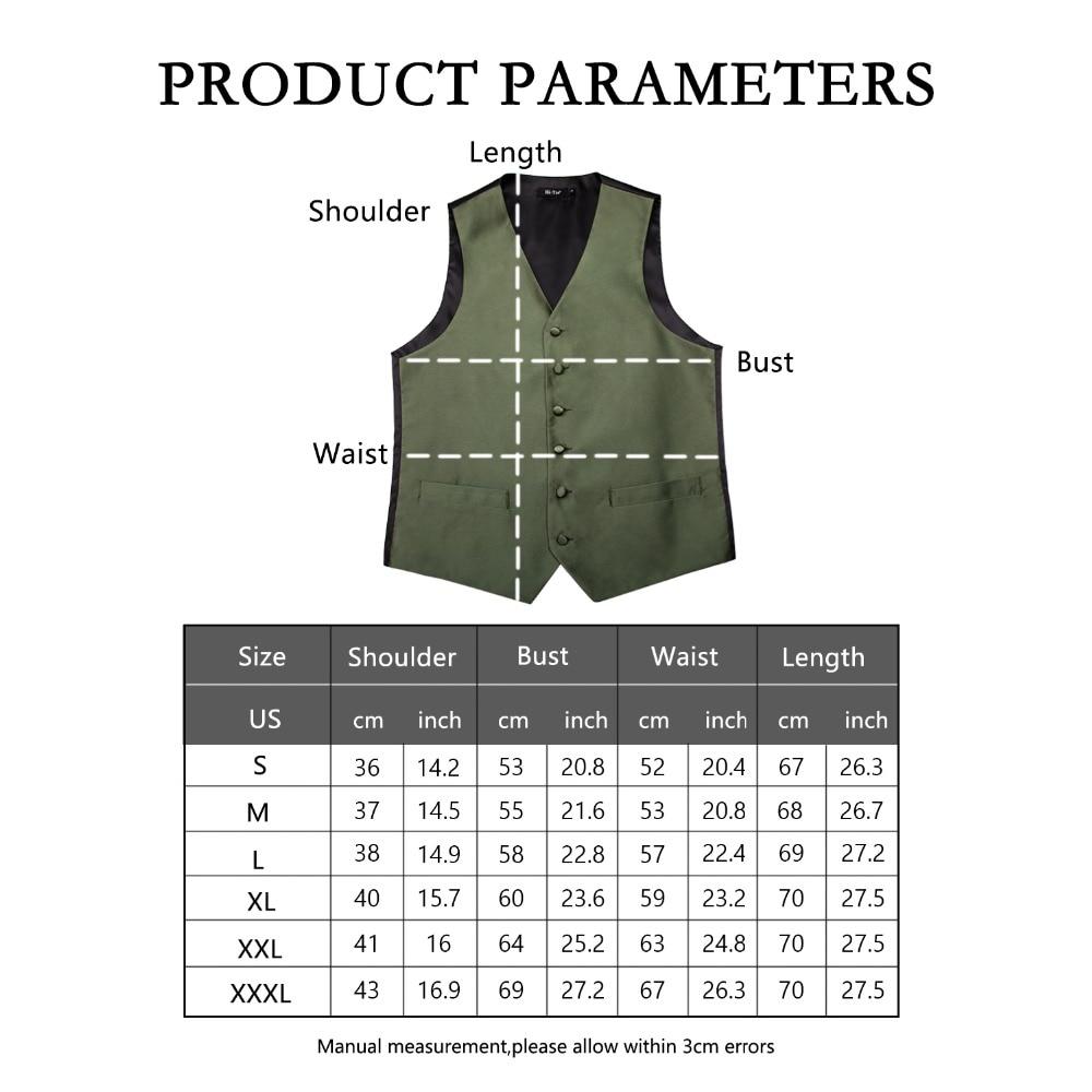Hi Tie Men 39 s Suit Vest Silk Classic Party Wedding Necktie Waistcoat Vest Pocket Square Tie Suit Set Green Vests for Men VE 0006 in Vests from Men 39 s Clothing