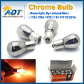 bau15s 150 degree single pin special 1156 ROHS Silver Chrome Amber Bulb Chrome Glass halogen Bulb Rear Turn Signal light 10pcs
