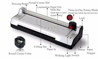 Hot &Cold with Paper Trimmer & Corner Rounder Roll Laminator Machine for A4 Paper Photo