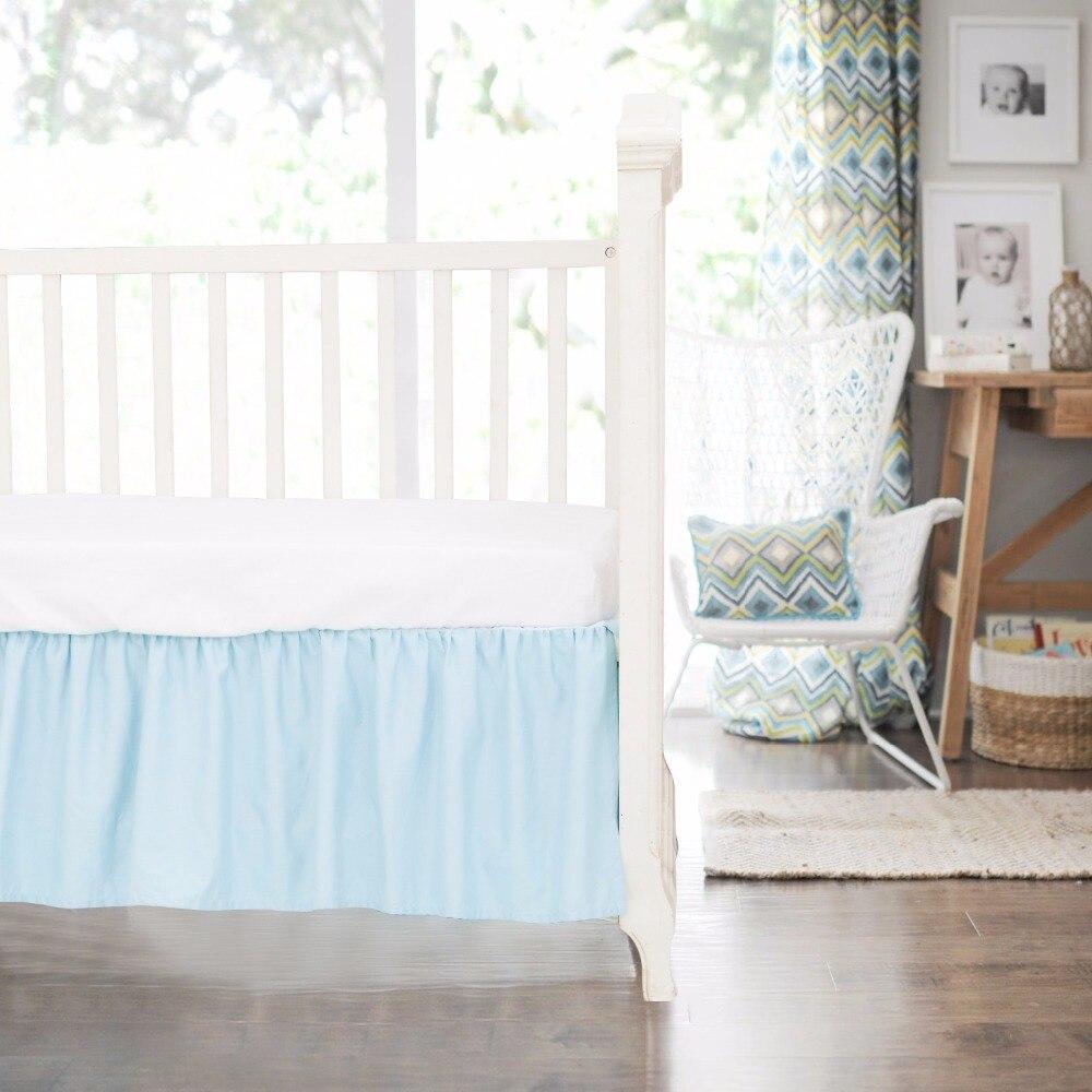 organic crib bed skirt  baby crib design inspiration - pcs natural  cotton sateen crib skirt bed skirt bedding baby