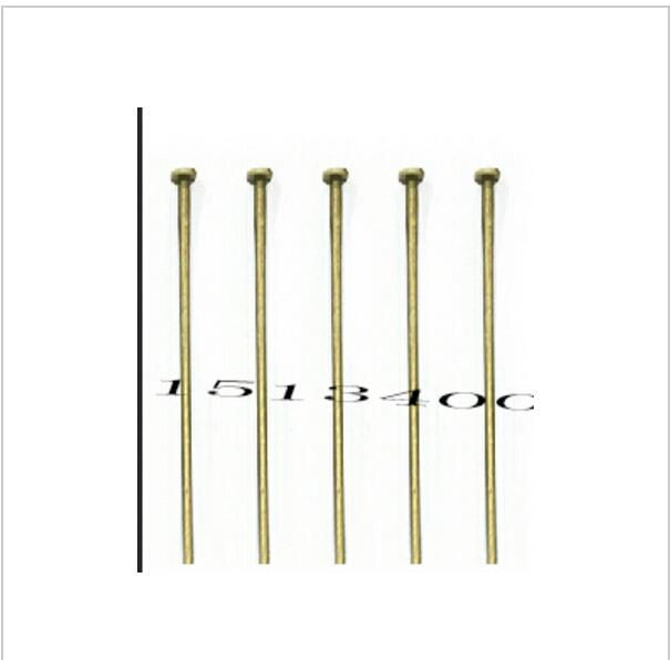 30x0.7mm(21 gauge) hot- 300 PCs Bronze Color Head Pins Findings * * jewelry roll round component connector hook loop material