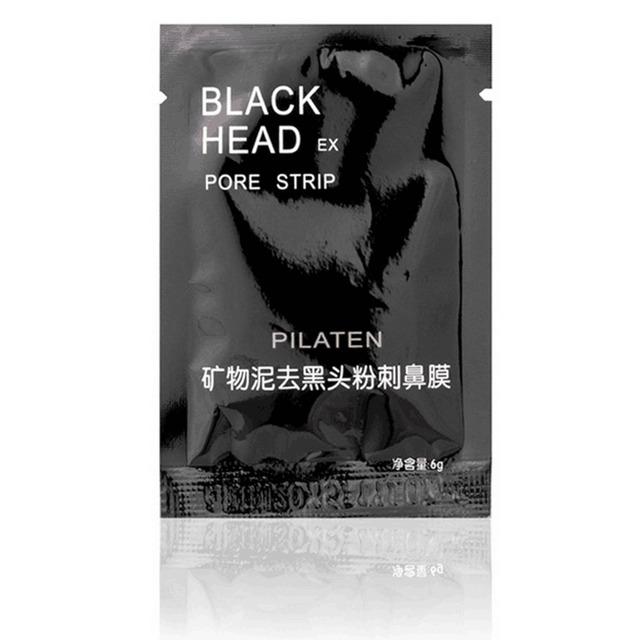 50pcs/lot PILATEN Face Care Nose Facial Blackhead Remover Mask Minerals Pore Cleanser Black Head EX Pore Strip Nose Mask