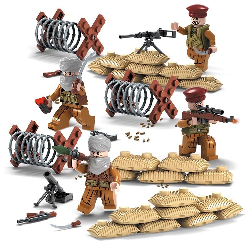 4 հատ / լաթ SWAT Ռազմական գործիչ Երկրորդ - Կառուցողական խաղեր - Լուսանկար 3