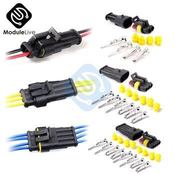 Ampli de connecteur de fil électrique, étanche, 1/2/3/4/5/6 broches, connecteur pour Kit Auto Auto, bricolage