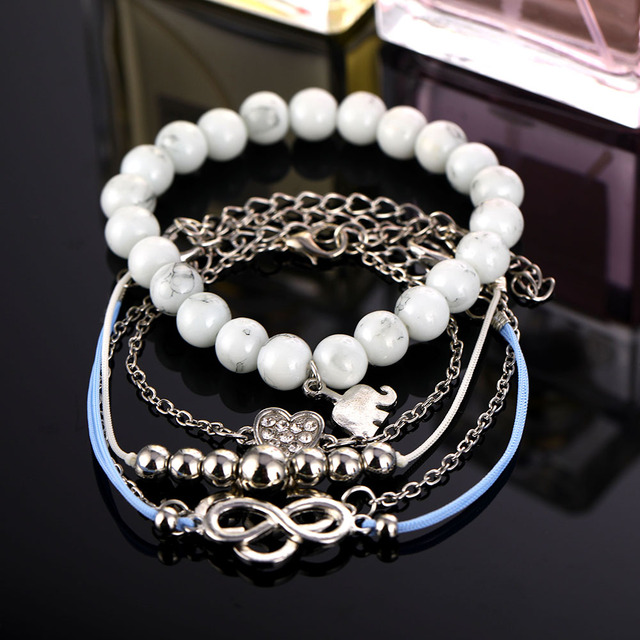 Bohemian Shell Moon Bracelet Set For Women