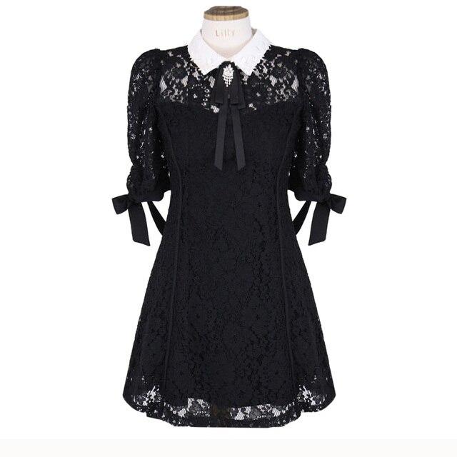 Lace Dress Women Cute...