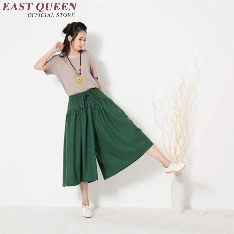 Baggy pants women loose pants for women summer style linen pants women KK1307 C