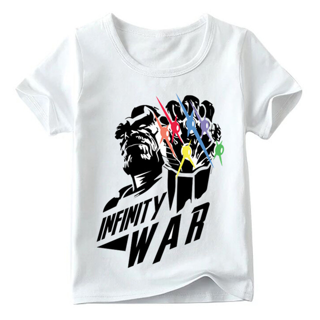 36e858194 Children Gauntlet Thanos Avengers Villa Funny T shirt Baby Boys/Girls Infinity  War Titan Print Tops Kids Casual T-shirt,HKP5513