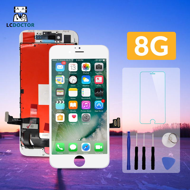 10pcs Lot For High quality AAA iPhone 8 lcd screen Good Touch Digitizer display Replacement For