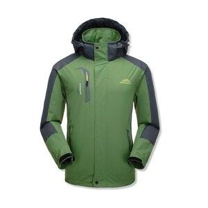 Image 4 - Jaqueta masculina à prova dágua com capuz, casaco esportivo quente e macio com capuz, para outono e inverno, blusão casual para homens, com zíper