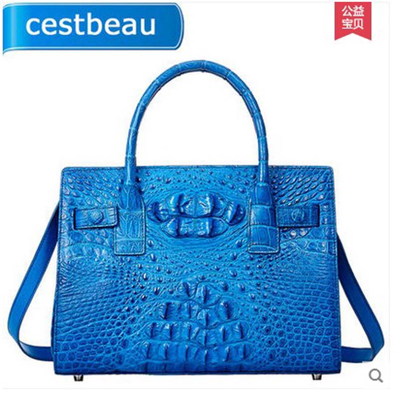 real Crocodile wome for leather handbag women handbag shoulder bag messenger bag 2016 trend fashion