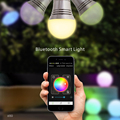 Lixada bluetooth led rgb luz e27 lâmpada inteligente smartphones controlado mudando a cor da lâmpada pode ser escurecido para iphone & ipad & android