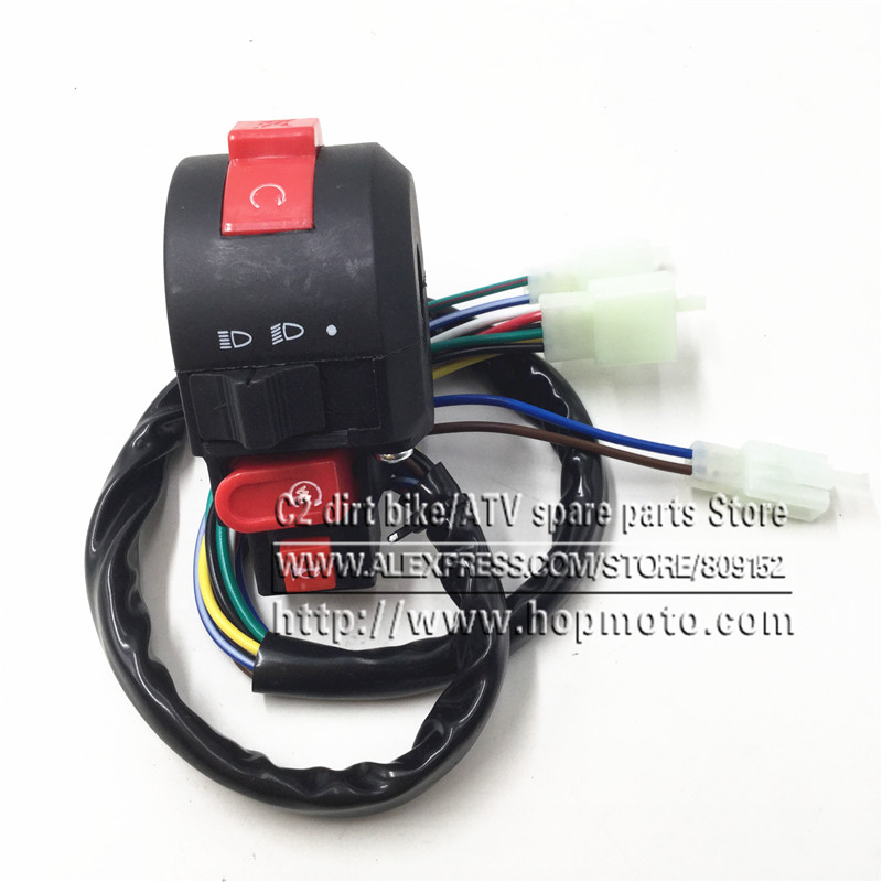 ATV motorcycle 4 function 110-250CC Kill Switch Electric Start The distance light and Horn Spare Parts