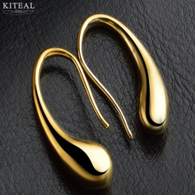 2 colors gold/silver color Waterdrop/raindrop Drop silver earings high quality fashion women drop earrings classic jewelry E004(China)