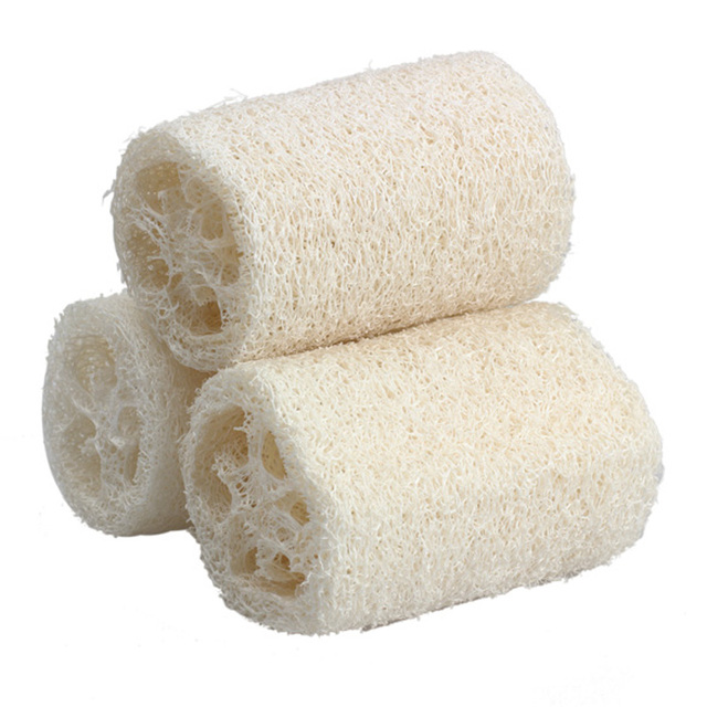 3pcs Natural Loofah Sponge