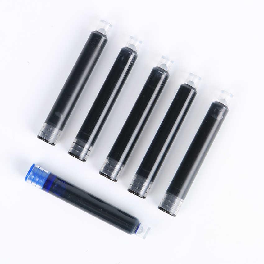 5 Buah/Bungkus Hitam Biru Universal Fountain Pen Ink Sac Kartrid Pena Isi Ulang Alat Tulis Kantor