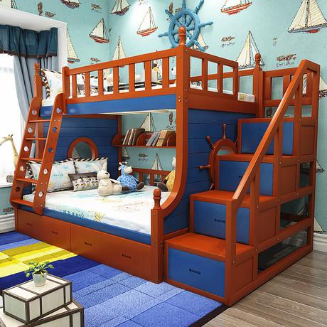 childrens beds. Children Beds Furniture Solid Wood All Sides Guardrail Ladder Children\u0027s Double Layer Bed Mediterranean 135 Childrens I