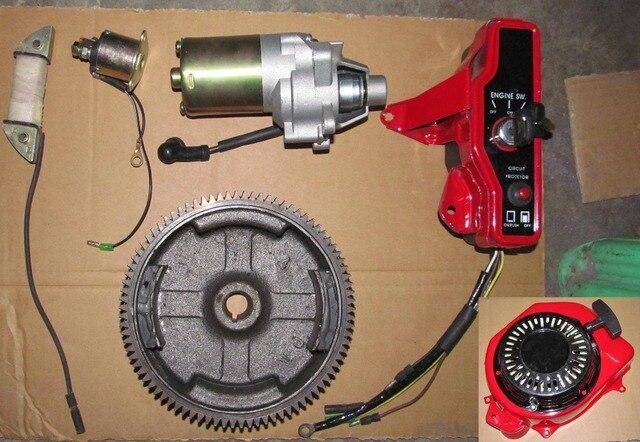 electric start kit for honda 2kw 168f generator gx160. Black Bedroom Furniture Sets. Home Design Ideas