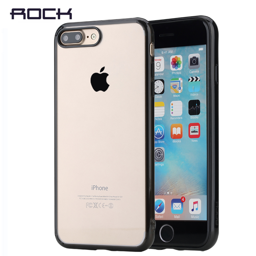 ROCK Pure Crystal Clear Phone case for iPhone 7 7 Plus transparent case cover