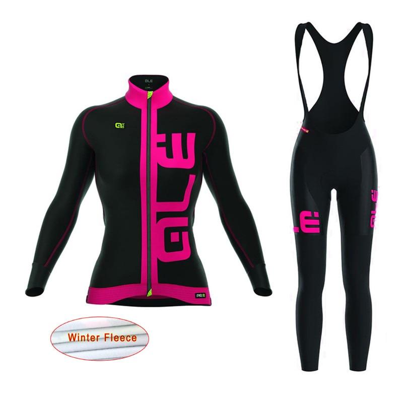 2017 <font><b>women</b></font> Cycling <font><b>Jersey</b></font> Mtb Bicycle Clothing set winter thermal fleece Bike Wear sports Maillot Ropa Ciclismo Mujer E1101