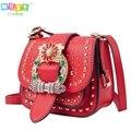 Famous Brand women Shoulder Bag Fashion diamonds Rivets Women's bag small Flap pocket Lady Crossbody Bags Bolsa Feminina