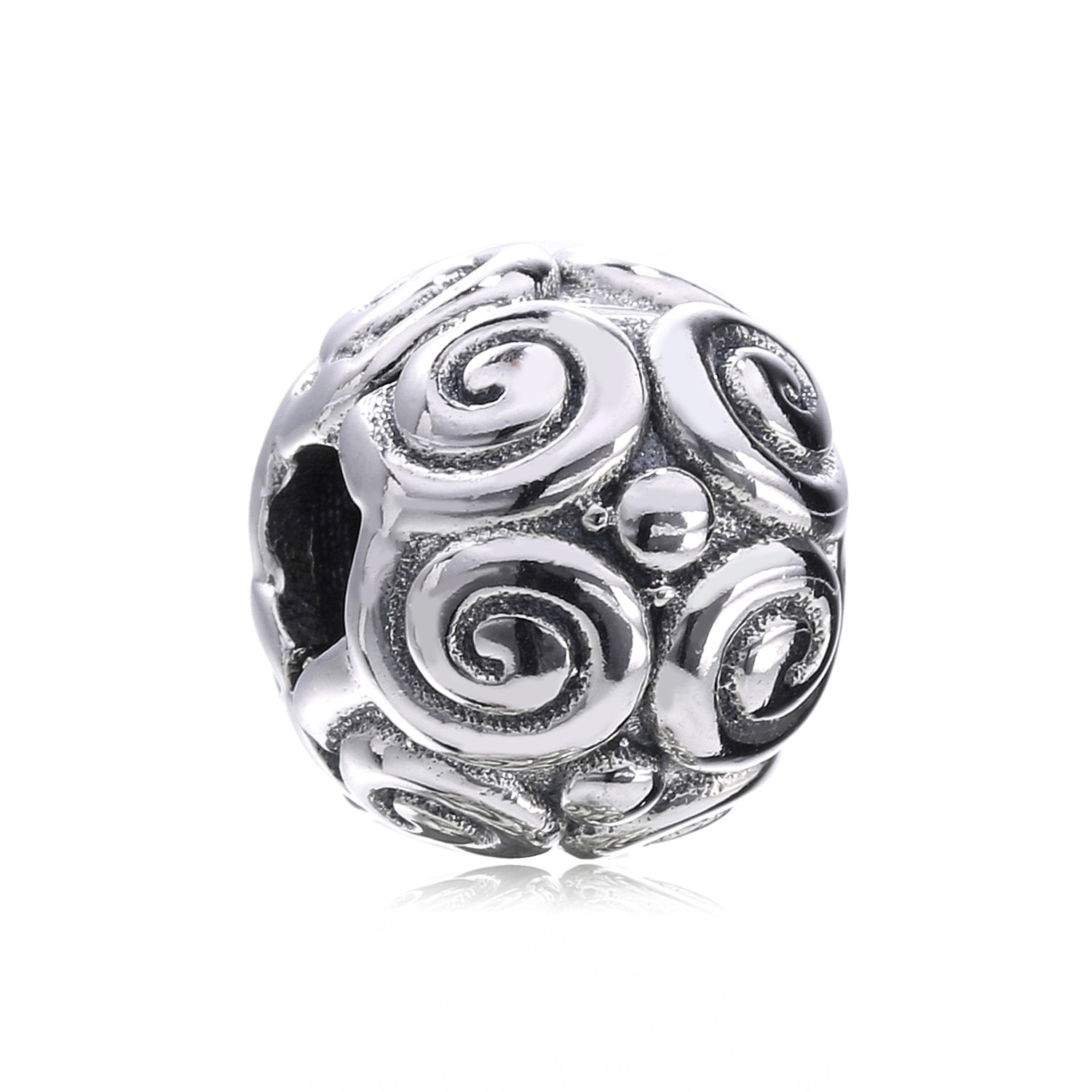 100% 925 Sterling Silver Lock Clip Stopper Clear CZ Safety clip Beads Fit Pandora Charm Bracelets Fashion Charms Jewelry