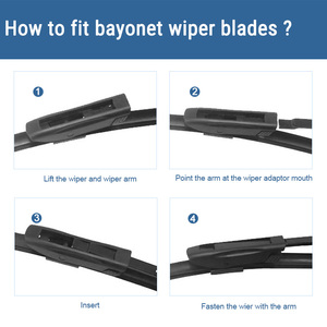 """Image 5 - SUMKS Wiper Blades for Renault Fluence 24""""&16"""" Fit Bayonet Arms 2011 2012 2013 2014 2015 2016"""
