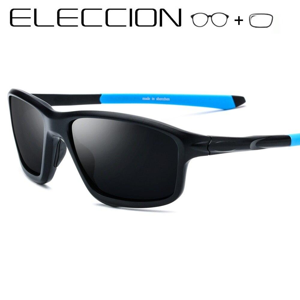 ELECCION Myopia Polarized Sunglasses Men 2019 Sporty Style Square Full Frame Optical Male Prescription Sun glasses