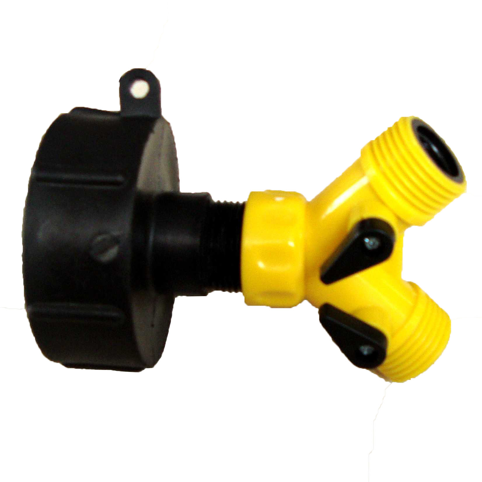 Ibc adapter to twin inch mm snap on push fit hose