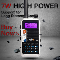 מכשיר הקשר KSUN H2 מכשיר הקשר 10W צריכת חשמל גבוהה Dual Band כף יד שני הדרך Ham Radio Communicator HF משדר חובב Handy (1)