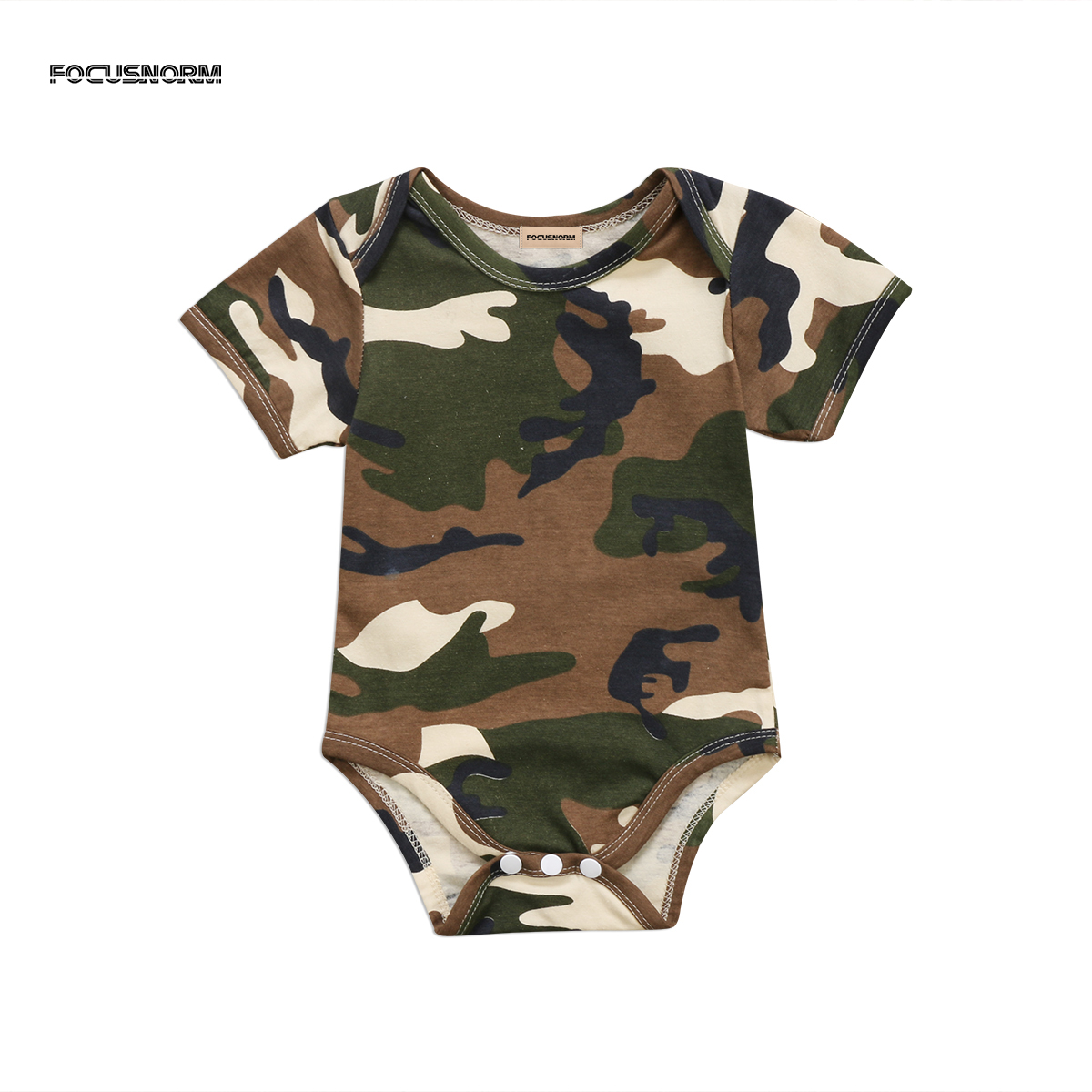 Newborn Baby Girl Summer Cotton Romper Jumpsuit Outfits Clothes Camo Bodysuit