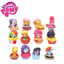12 pcs 4-5 centímetros My Little Pony Brinquedos Mini Boneca Pony Friendship Is Magic Twilight Sparkle Rainbow Dash apple Jack Raridade Figura de Ação(China)