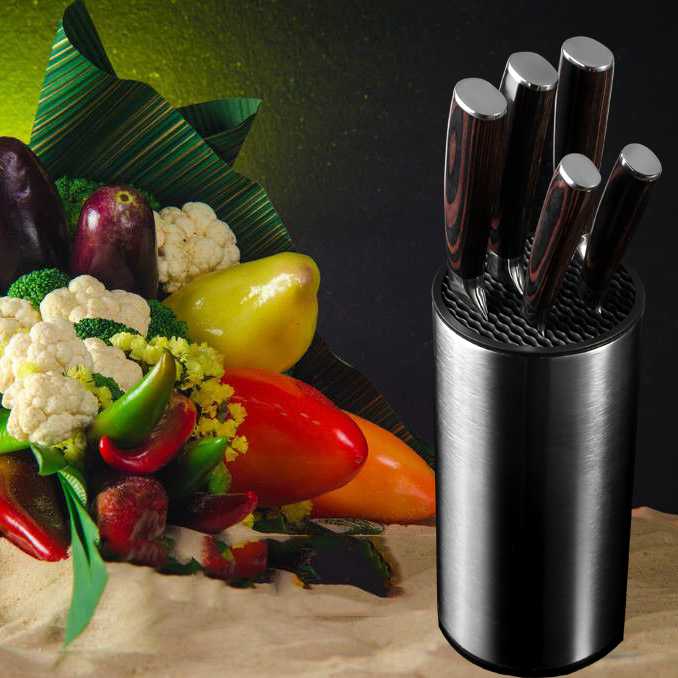 Xituo tool holder knife kitchen holder block orange stand sooktops tube shelf multifunctional bar outdoor bbq knife sets new hot