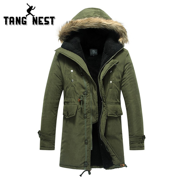 New Arrival 2016 Winter Lowest Price Three Color Men's Long Overcoat Popular Asian Size Hooded Warm Comfortable Coat 060