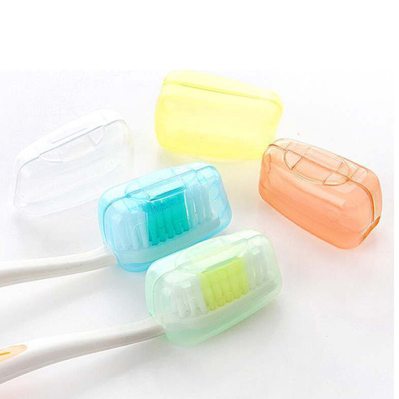 ZLinKJ 1Set/5PCS New Protect Toothbrush Head Cleaner Cover Case Box Holder Travel Camping Bathroom Sanitary Ware Suite