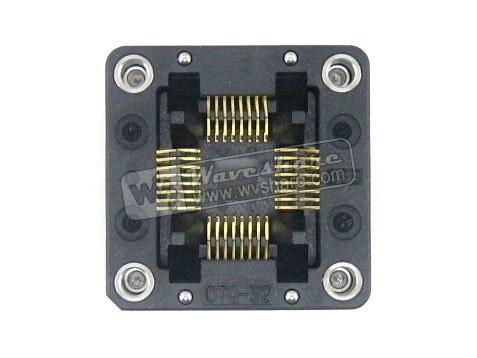 QFP32 TQFP32 FQFP32 PQFP32 OTQ-32-0.8-02 Enplas IC Test adaptateur de programmation de prise de gravure pas de 0.8mm