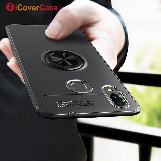 Magnetic Car Holder Cover For Xiaomi Mi Max 3 360 Rotating Finger Ring Stand Case Silicon Soft Case For Xiaomi Max3 Coque Etui