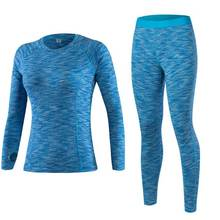New Brand Thermal Underwear Women Winter Quick Dry Fitness Sporting Gymming Yogaing Thermo Underwear Sets Female Warm Long Johns