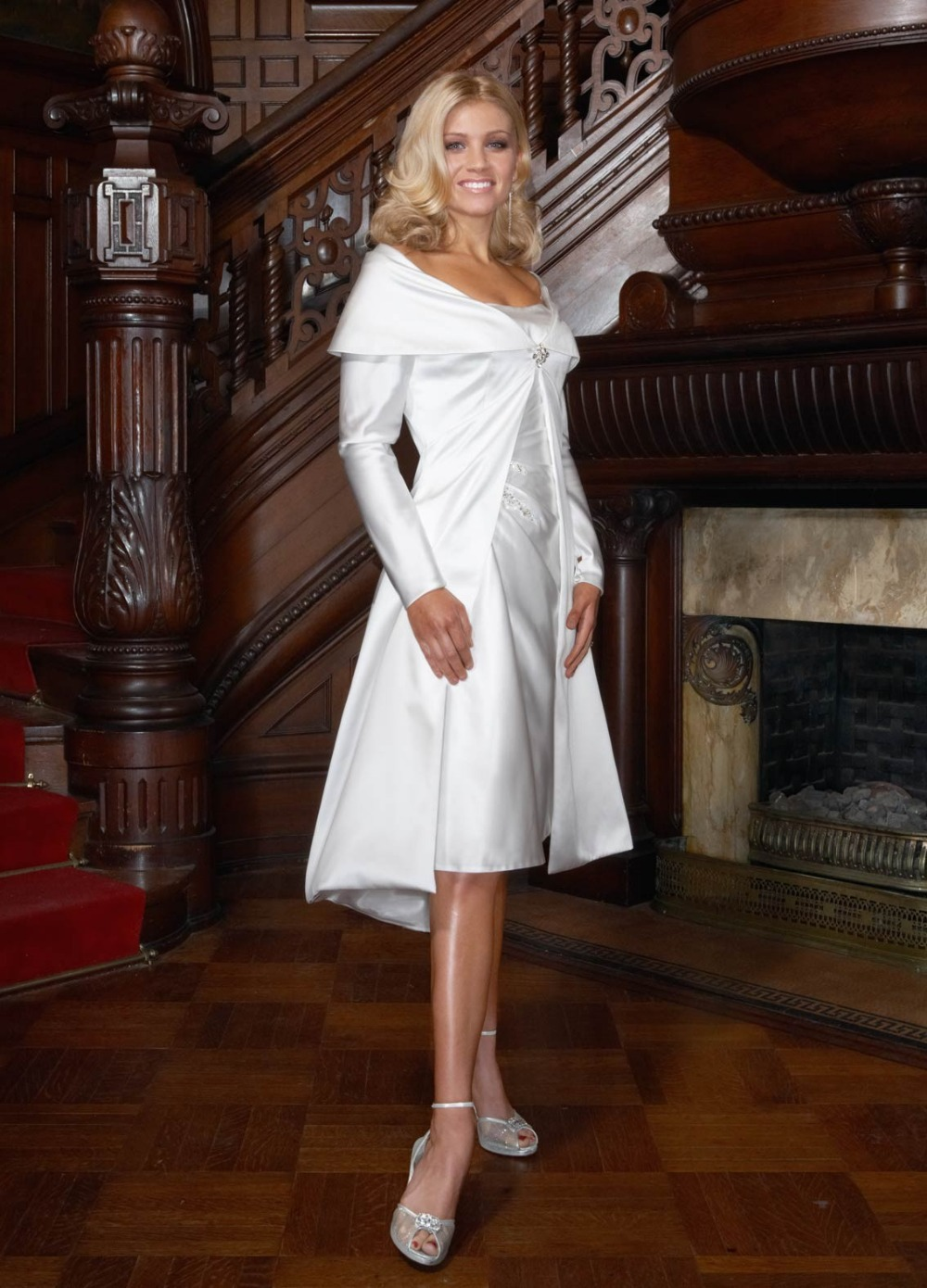 online shop sexy short wedding dress 2015 pearls a line fashionable cheap white tea length plus size wedding dress with detachable skirt aliexpress mobile